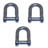 3 PK BRIDCO D SHACKLE SLOT HEAD - STAINLESS STEEL 6MM, 7MM, 8MM OR 10MM (A-2366)