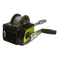 JARRETT BRAKE WINCH 10:1 - 7.5M X 6MM CABLE & SNAP HOOK (WB-F18260) BOATING