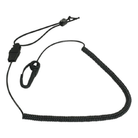 SEATTLE SPORTS PADDLE LEASH  2.44M RETRACTABLE CORD - BLACK - (SPA-54715)