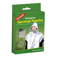 COGHLANS EMERGENCY SURVIVAL PONCHO - HELPS REDUCE HEAT LOSS (COG 1390)