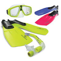 LAND & SEA ADVENTURER SNORKEL, MASK & FINS SET - MULTIPLE SIZES AVAILABLE