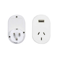 OSA BRANDS SOUTH AFRICA AND INDIA TRAVEL ADAPTOR WITH USB (OSA TASA002)