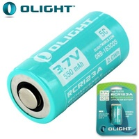 OLIGHT 3.7V 550MAH RECHARGABLE BATTERY - PACK OF 2 BATTERIES (BAT-RCR123)