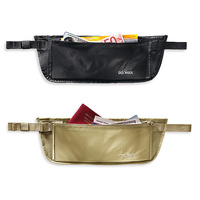 TATONKA SKIN DOCUMENT BELT L - BLACK OR NATURAL - LARGE ZIPPED POCKET