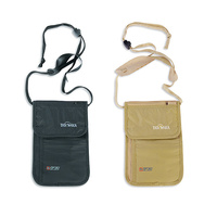 TATONKA SKIN NECK POUCH RFID - BLACK OR NATURAL - TRAVEL SAFETY