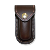 JCOE LEATHER MOULDED KNIFE POUCH - 90MM - AUSTRALIAN MADE (MVS)