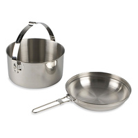 TATONKA POT AND PAN CAN ALSO FUNCTION AS A KETTLE - SET OF 2 (TAT 4003)