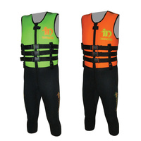 INTENSITY SKI RACE SUIT - MENS - SIZES S - 4XL - GREEN / ORANGE (IA8300)