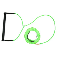 KONEX WAKEBOARD PRO ROPE WITH ROUND SUADE HANDLE - ROUND - GREEN (KP2)