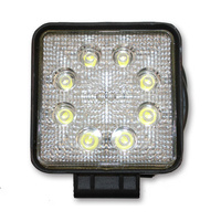 INNERCORE LED WORK LIGHT - SQUARE - CLEAR LENS - 24W - SUPER BRIGHT (PW24R)
