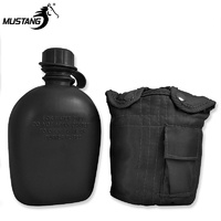MUSTANG GI CANTEEN WITH BLACK COVER - 946ML CANTEEN (13618)