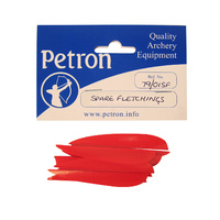 PETRON SPARE FLETCHINGS - FOR FIBREGLASS OR WOODEN ARROW ARROWS - PACK OF 10