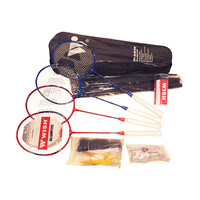 WISH BADMINTON 4 PLAYER SET - COMES IN NEAT CARRY BAG WITH HANDLE (BDWSET4)