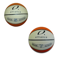 ALLIANCE TWO TONE RUBBER BASKETBALL - SIZE 5 OR 7 - INDOOR / OUTDOOR
