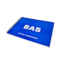 BAS CRICKET SCOREBOOK - EASY WAY TO KEEP TRACK OF THE SCORE (CBASB)