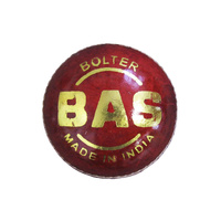 BAS BOLTER CRICKET BALL - LEATHER 2 PIECE BALL - WHITE OR RED
