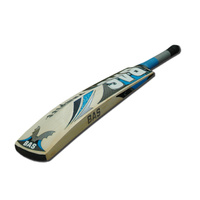 BAS PRIDE CRICKET BAT - LIGHT BLUE / BLACK - HAND CRAFTED - 3 SIZES