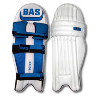 BAS PRIDE CRICKET LEG GUARDS - BLUE / BLACK - HIGH DENSITY FOAM - RH / LH