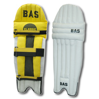 BAS CLASSIC CRICKET LEG GUARDS - YELLOW / BLACK - HDF - BDW / YDW / MDW