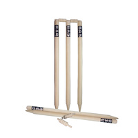BAS CLUB CRICKET STUMP SET - SET OF 6 - LIGHTLY BLEACHED TIMBER (CBASC)