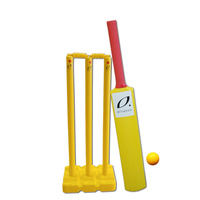 ALLIANCE MODIFIED CRICKET SET - YELLOW - HEAVY DUTY POLY PLASTIC - SIZES 5 / 3