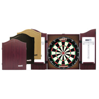 ONE80 MDF DARTBOARD CABINET -  ROSEWOOD / OAK / BLACK - QUALITY PRODUCT