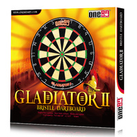 ONE80 GLADIATOR II DARTBOARD - STAPLE FREE BULLSEYE - HIGH QUALITY (DA180BPG2)