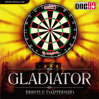 ONE80 GLADIATOR DARTBOARD - STAPLE FREE BULLSEYE -  HIGH QUALITY (DA180BPG)