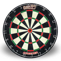 ONE80 ACHIEVER DARTBOARD - STAPLE FREE BULLSEYE -  HIGH QUALITY (DA180BPA)