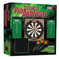 ONE80 PRO ACHIEVER DART SET - BRISTLE DARTBOARD - 1 SET OF DARTS (DA180PADS)