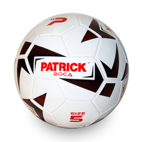 PATRICK BOCA FOOTBALL - WHITE/BLACK/RED - SIZES 3 / 4 / 5 - SOCCER BALL