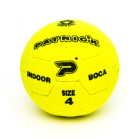 PATRICK BOCA INDOOR FOOTBALL - YELLOW/BLACK - SIZE 4 - SOCCER BALL (SPBBIN4)