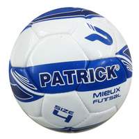 PATRICK MIEUX INDOOR FUTSAL BALL - WHITE/ROYAL/NAVY - SIZES 4 / 3 - SOCCER BALL