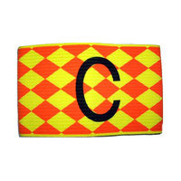 PATRICK CAPTAINS ARMBAND - ORANGE/YELLOW - SENIOR - POLY COTTON BAND (SOACAB156)