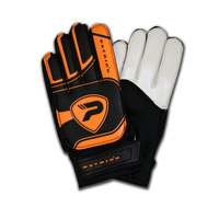 PATRICK BOCA FOOTBALL GOAL KEEPING GLOVES - BLACK/ORANGE - SIZES 5 TO 9