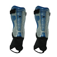 PATRICK BOCA FINALE SHINGUARDS W/ ANKLE PROTECTION - SILVER/BLUE - S / M / L