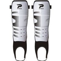 PATRICK ATOMIC SHINGUARDS WITH ANKLE PROTECTION – WHITE/BLACK - XS / S / M / L