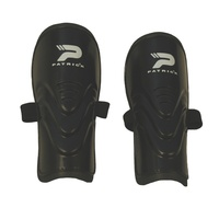 PATRICK SUPER CUP 7 SHINGUARDS - EVA FOAM CUSHIONING - BLACK - XS / S / M / L