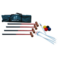 ALLIANCE CROQUET SET DELUXE - INCLUDES WICKET / STAKES / MALLETS & BALLS (GACS)