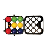 ALLIANCE BOULE SET - COLOURED BALLS - PLASTIC CASE - SET OF 8 BALLS (BOULE)