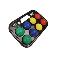 ALLIANCE BOULE SET - PLASTIC BALLS - PLASTIC CASE - SET OF 8 BALLS (BOULEP)