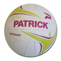 PATRICK ATOMIC NETBALL - VULCANISED RUBBER COVER - SIZES 4 / 5