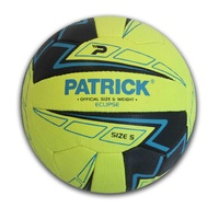 PATRICK ECLIPSE NETBALL - FLUORO YELLOW - OFFICIAL SIZE & WEIGHT - SIZES 4 / 5