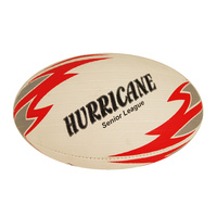 PATRICK HURRICANE RUGBY LEAGUE BALL - WHITE / RED - SIZE 5 (RLBHU5)
