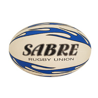 PATRICK SABRE RUGBY UNION BALL - WHITE / BLUE - SIZE 5 (RUBSA5)