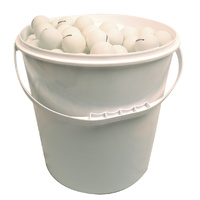 ALLIANCE TABLE TENNIS BALLS - 72 BALLS IN A 5 LITRE BUCKET - 40MM (TTBLA72B)