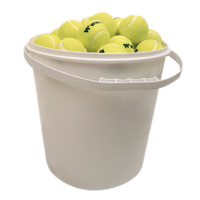 WISH TENNIS BALLS - 72 BALLS IN A 20 LITRE BUCKET (TNBL72B)