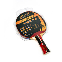 ALLIANCE ECLIPSE 5 STAR TABLE TENNIS BAT - ITTF APPROVED RUBBER (TTABTE5)