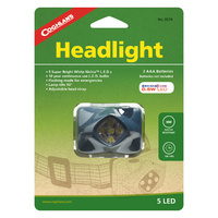 COGHLANS 5 LED HEADLIGHT - ADJUSTABLE HEAD STRAP (COG 0574)