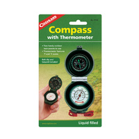 COGHLANS COMPASS WITH THERMOMETER - TWO HANDY INSTRUMENTS IN ONE (COG 9740)